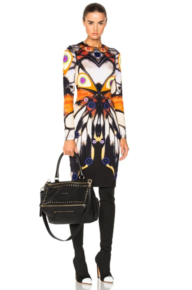 Butterfly Print Long Sleeve Dress Givenchy