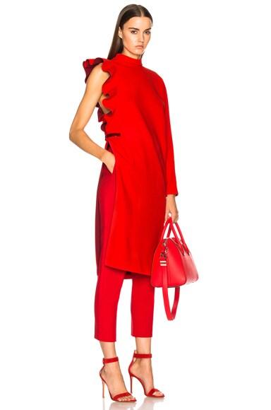 Ruffle Sleeve One Shoulder Dress