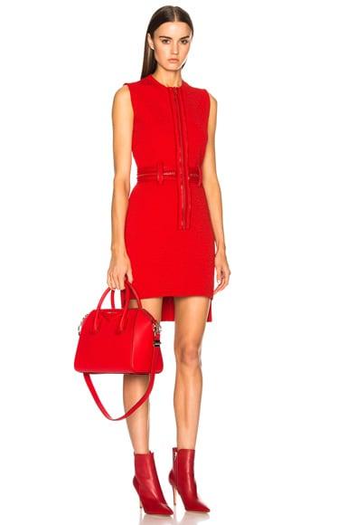 Zip Detail Mini Dress