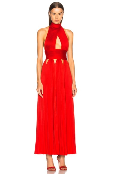 Cutout Pleated Gown