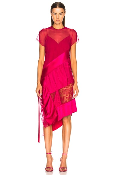 Jacquard Optical Midi Dress