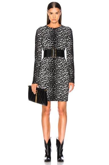 Leopard Jacquard Sweater Dress