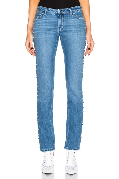 Givenchy Studded Jeans in Light Blue