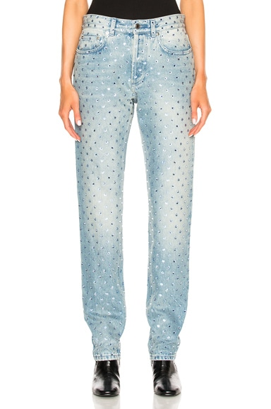 Givenchy Embroidered Denim in Light Blue