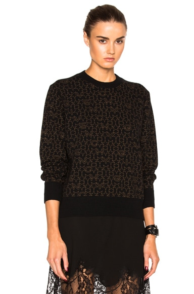 Givenchy Logo Printed Sweater in Black