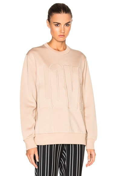 Givenchy LOVE Embroidered Sweatshirt in Pale Pink