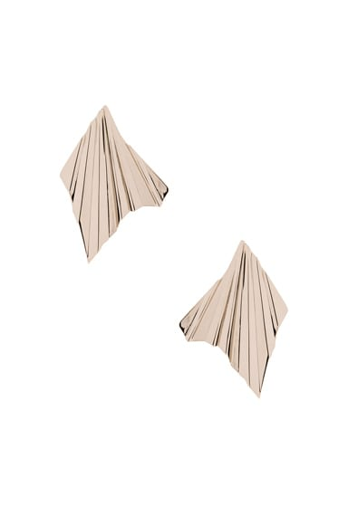 Givenchy Folded Metal Earrings in Pale Gold