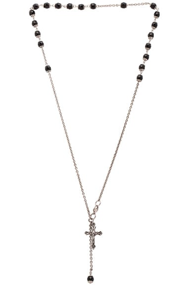 Givenchy Rosario Beads Choker in Black & Silver