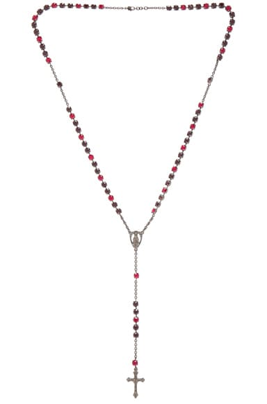 Givenchy Long Rosario Necklace in Burgundy