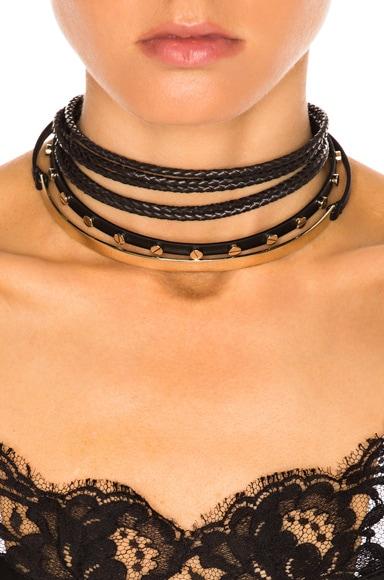 Leather & Metal Choker