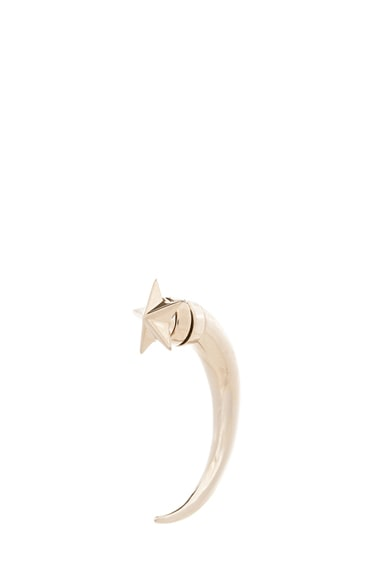 Star Shark Tooth Brass Earring