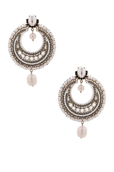 GIVENCHY Pearl Statement Earrings in Pearls & Strass