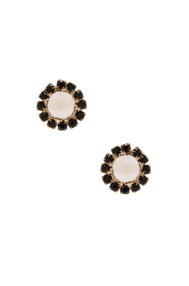Givenchy Magnetic Pearl Earrings in Black & White