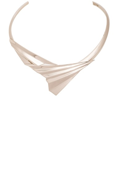 Givenchy Folded Metal Choker in Pale Gold