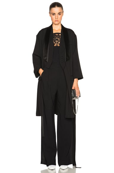 Givenchy Long Trench in Black