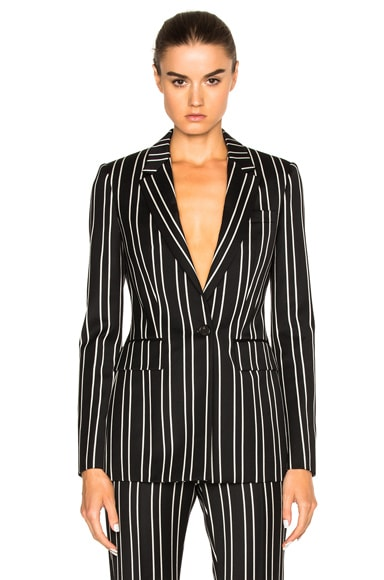 Givenchy Jacquard Stripe Blazer in Black