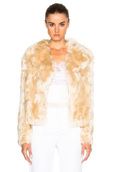 Givenchy Alpaca Fur Jacket in Off White