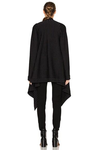 Pinstripe Sweater Coat