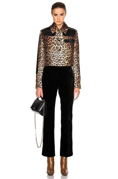 Leopard Printed Grain de Poudre Jacket