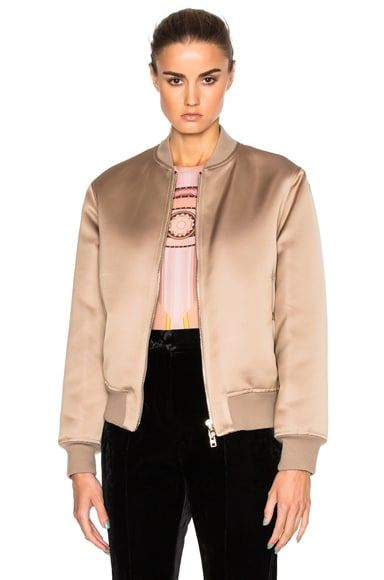 Givenchy Satin Bomber Jacket in Beige