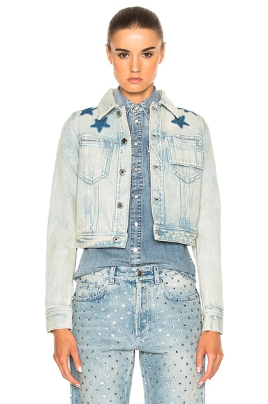 Givenchy Black Star Denim Jacket in Blue
