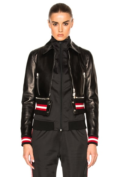 Givenchy Leather Jacket in Black