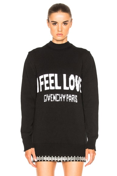 Givenchy I Feel Love Sweater in Black & White