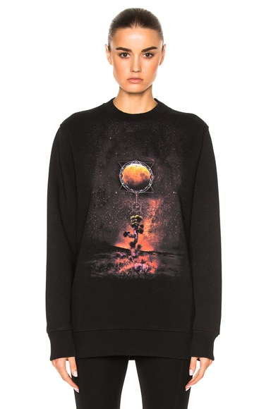 Givenchy Graphic Crewneck Sweatshirt in Black