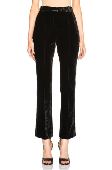 Givenchy Crushed Velvet Trousers in Black