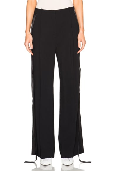Trousers with Detached Satin Band