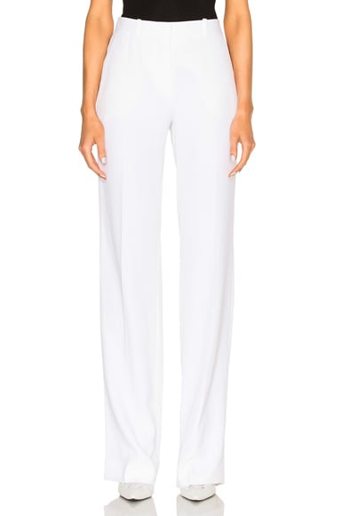 Givenchy Crepe Satin Trousers in White