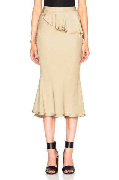 Givenchy Ruffle Skirt in Beige