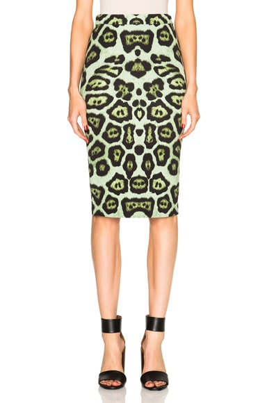 GIVENCHY Leopard Print Skirt in Multi