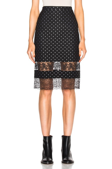 Givenchy Star Jacquard Skirt in Black
