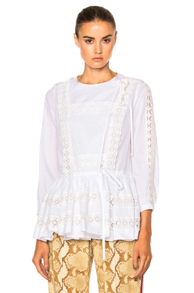 Givenchy Light Crepon Blouse in White
