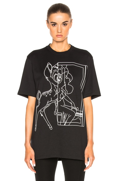Givenchy Bambi Tee in Black