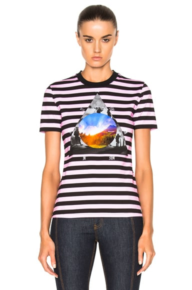 Givenchy Striped Graphic Tee in Multi