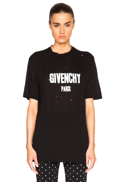 Givenchy Short Sleeve Tee in Black