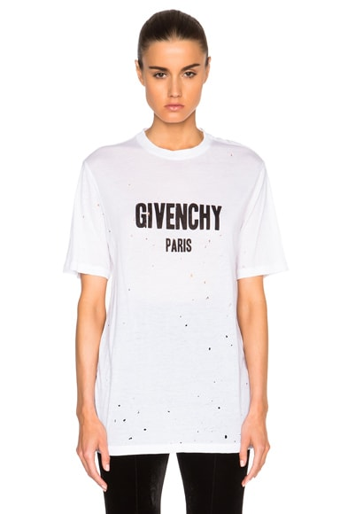 Givenchy Short Sleeve Tee in White