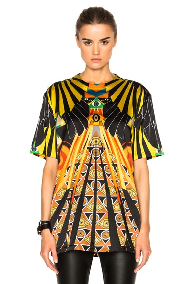 Givenchy Optical Wings Satin Tee in Multi