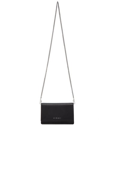 GIVENCHY Pandora Chain Wallet in Black