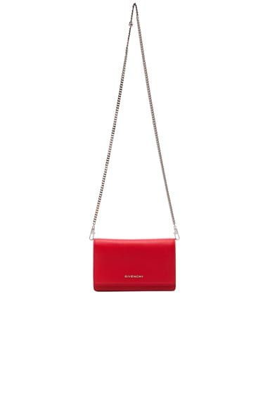 GIVENCHY Pandora Chain Wallet in Red