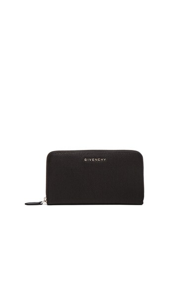 GIVENCHY Pandora Long Zip Around Wallet in Black