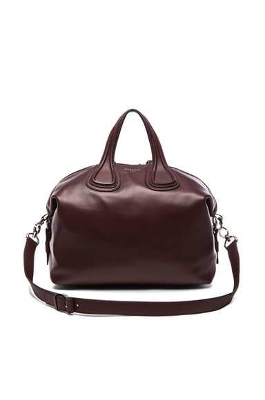 GIVENCHY Medium Nightingale in Oxblood Red