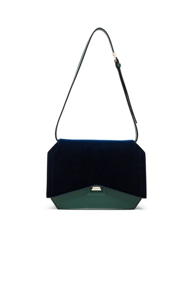Givenchy Medium Bow Cut Bag in Dark Green & Navy