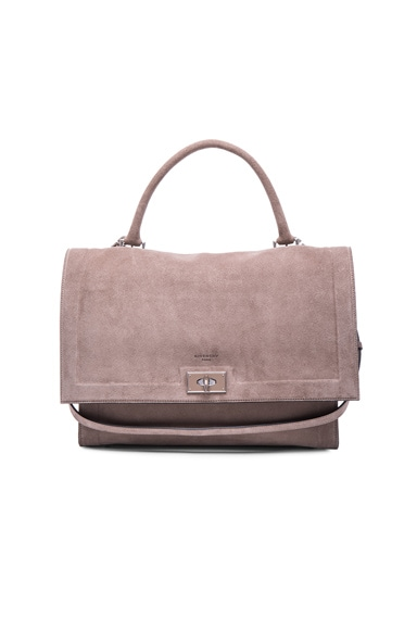 Givenchy Medium Suede Shark Bag in Sand