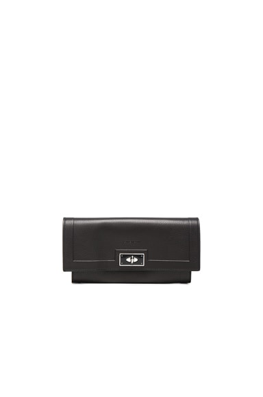Givenchy Shark Long Flap Wallet in Black