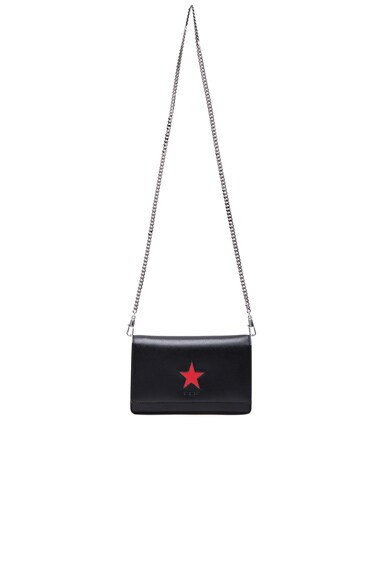 Givenchy Pandora Chain Wallet with Star in Black & Red