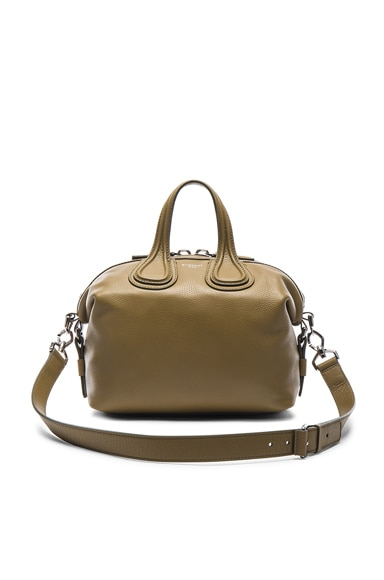 Givenchy Small Waxy Leather Nightingale in Olive Green