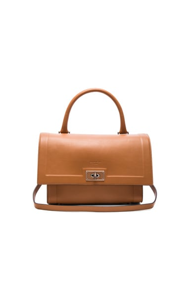 Givenchy Small Contrast Edge Shark Bag in Pony Brown
